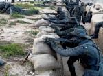 Eceabat (Geibolu): reproducere în mărime naturală a unei scene de luptă din tranșee