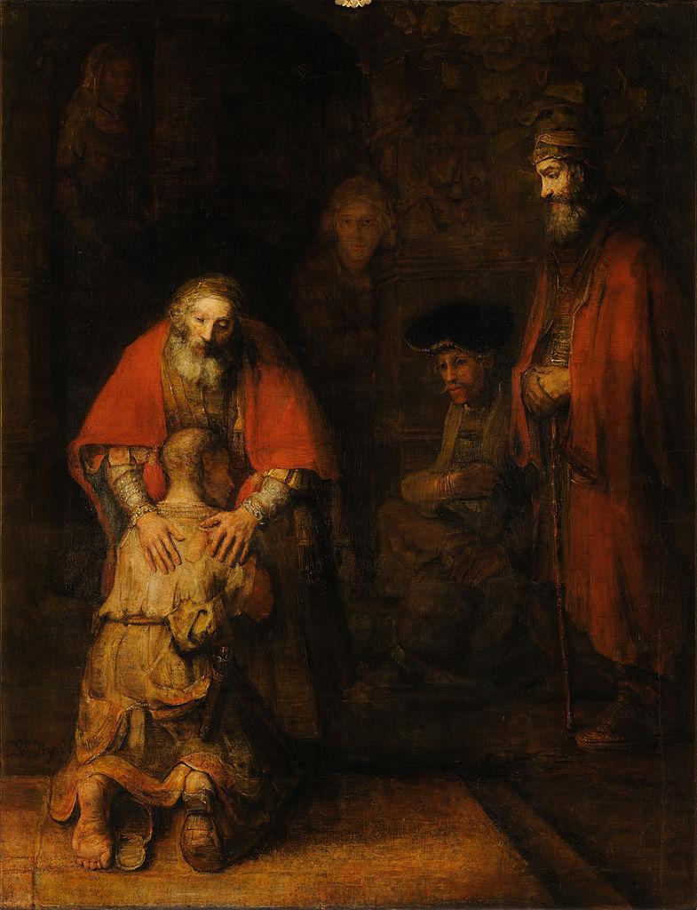 Rembrandt van Rijn, The Return of the Prodigal Son, c. 1661–1669. 262 cm × 205 cm. Hermitage Museum, Saint Petersburg Sursa: wikipedia.org